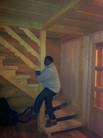Szalas Janikowka: Stairs
