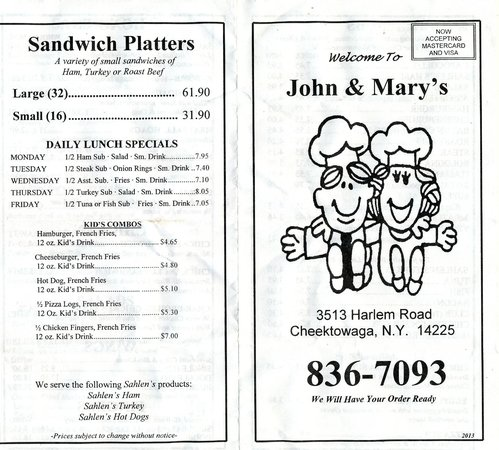 John & Mary's: John and Mary's