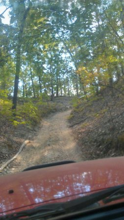 Superlift Off Road Vehicle Park: One of the beautiful shaded trails