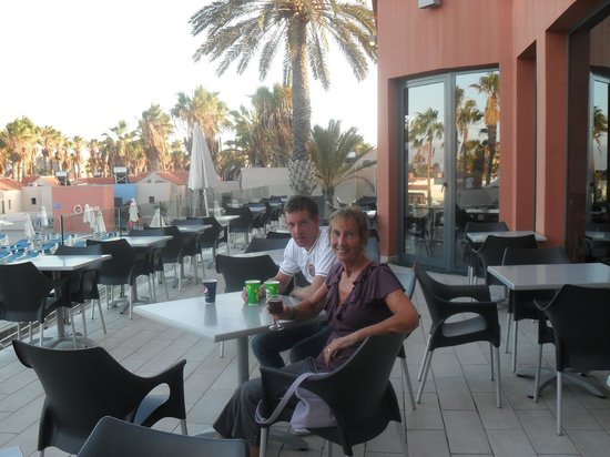 Caybeach Caleta: Restaurant Balcony