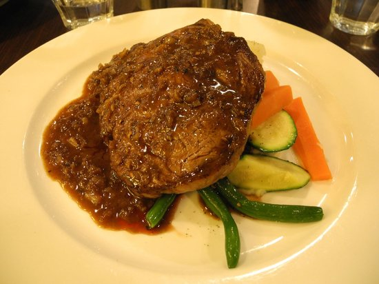 Scotch fillet with pepper sauce vegetables mash for Australian fusion cuisine