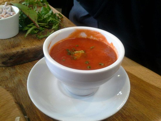The Woodhouse Coffee Shop: Tomato & Red Pepper Soup - really liked that you can have a small bowl as a side to any of their