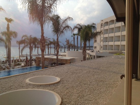 Alexander The Great Beach Hotel: Pool view from the bar area