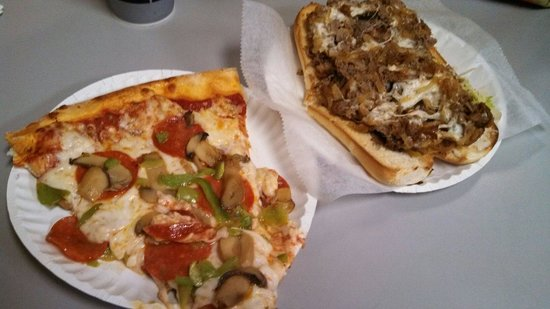 Luigi's Pizza: Slice and SteaknCheese!!!