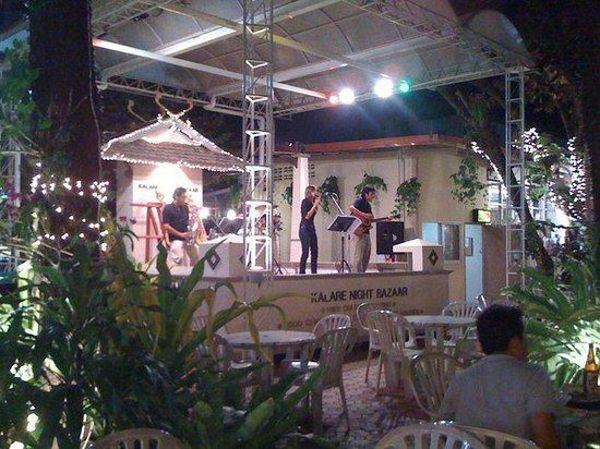 Kalare Night Bazaar: Band playing at Kalare