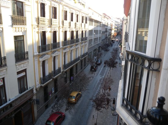 Hotel Villa Real: View from our window down Prado Street