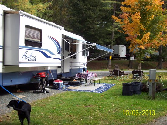 Quechee / Pine Valley KOA: our site #4