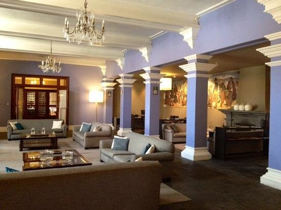 Hotel Libertador Arequipa : lounge area with restaurant behind