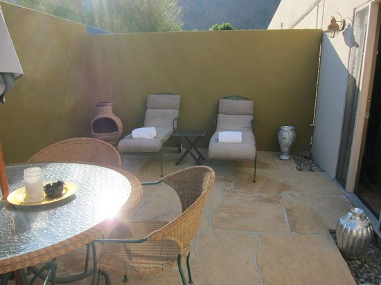 San Giuliano Hotel: Private patio for Sunset room