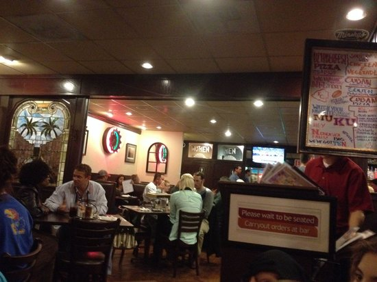 Minsky's Pizza: Casual, kinda funky atmosphere. Great local vibe.