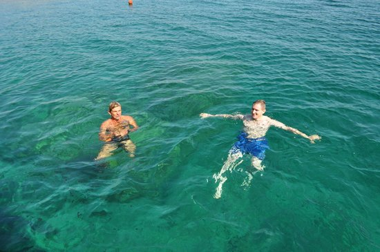 Captain Nick's Glass Bottom Boat Aphrodite: Swimming with the Captain