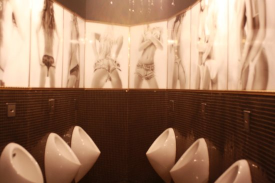 Platinum: In men's room in Disco