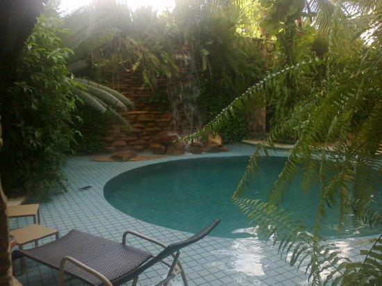 Amazon Plaza Hotel: Piscina e Cascata
