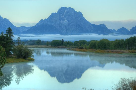 Mount Moran and Reflection at Oxbow Bend