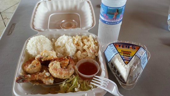 Hawaii Food Tours: OMG garlic shrimp plate luch
