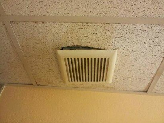 Hotel Morgantown and Conference Center: Exhaust fan falling out of the ceiling