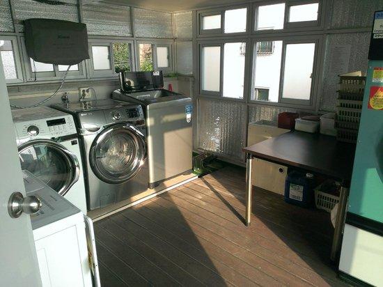 Boa travel house: 洗濯コーナーもありました。