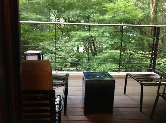 Hotel Hatsuhana : ビューバス付和洋室のテラス
