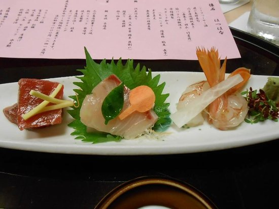 Hotel Hatsuhana: 夕食のお造り