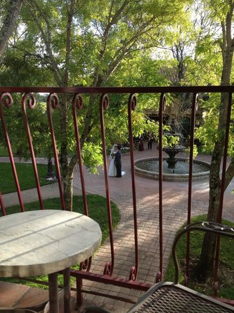 Vintners Inn: View from our balcony of bride and groom