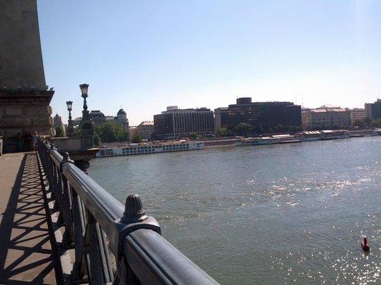 Sofitel Budapest Chain Bridge: View of the Sofitel from the Chain Bridge