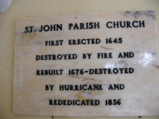 St. John's Parish Church : history - short version