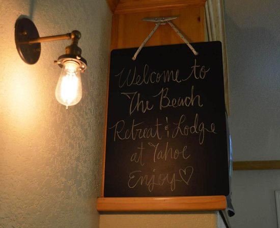 Beach Retreat & Lodge at Tahoe: Our welcome as we entered our room!