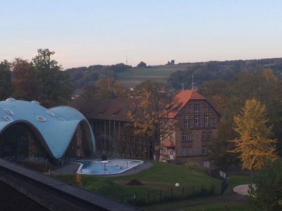 Hotel an der Therme Bad Orb: Blick auf Therme und Gradierwerk