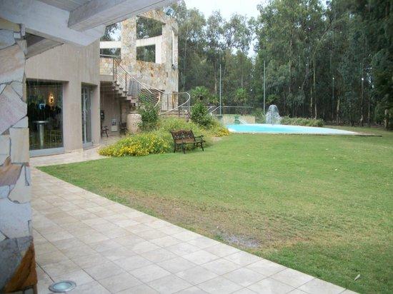 Hotel Flamingo: Il prato e la piscina intorno al ristorante