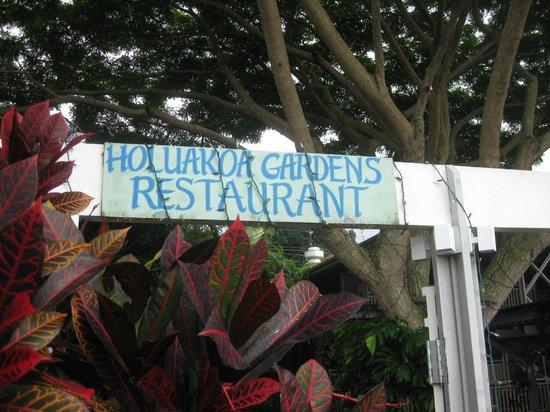 Holuakoa Cafe & Gardens: Entry to the Restaurant