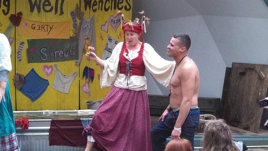King Richard's Faire: Shy Curt being teased at a show......