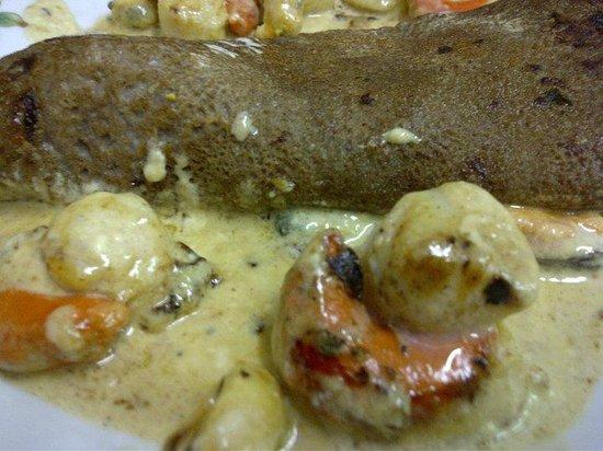 Le Pot d'Etain : galette aux fruits de mer