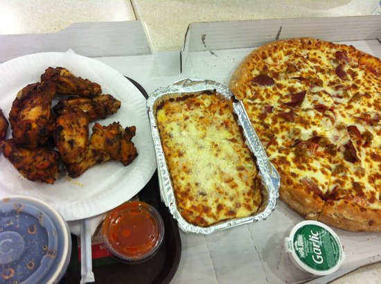 Papa Johnu0027s: Papa House Pasta And Double Sized All The Meat Pizza