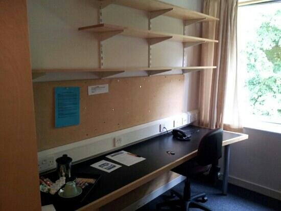 Homerton College: Desk in Homerton, unfortunately a picture does not show how dirty it was...