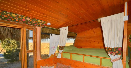 """The Well Guesthouses - Zimmerbus: """"loft"""" bed of airport bus"""