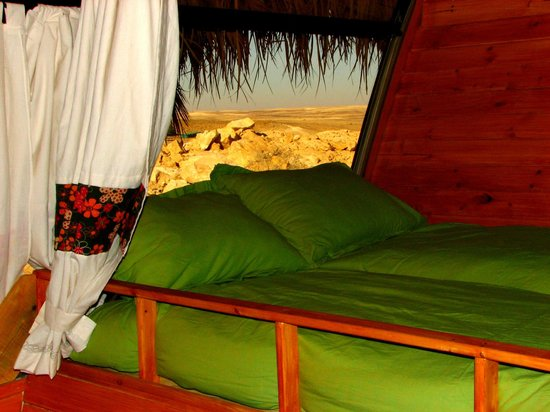 """The Well Guesthouses - Zimmerbus: """"Loft"""" sleeping area in the airport bus"""