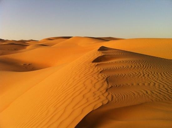 Qasr Al Sarab Desert Resort by Anantara: sunrise desert walk