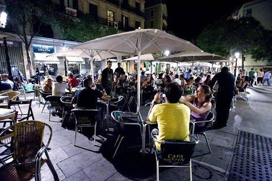 Casa Delfin : the terrace at night