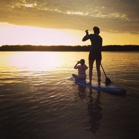 A sunrise paddle at Golden Beach Hire