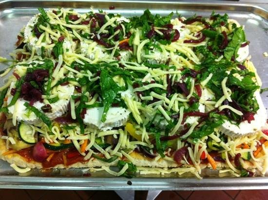 The Ivy Cottage: veg slice ready for cooking .