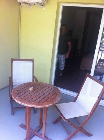 Hotel Le Recif: Terrasse