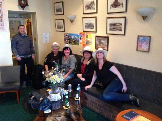 The Wynnstay Hotel: Cowgirls in Kay's bar...