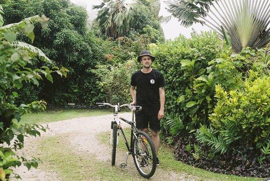 Coconut Grove Beachfront Cottages: Guest bikes, Coconut Grove grounds