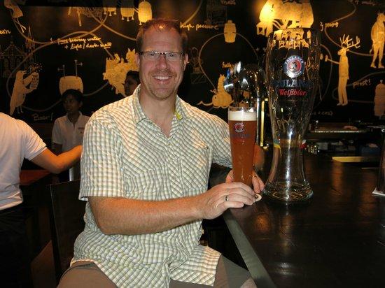 Brotzeit German Bier Bar & Restaurant : The half liter glass was a better choice!