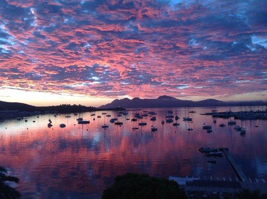 Hotel Miramar: Puerto PTollensa sunrise.