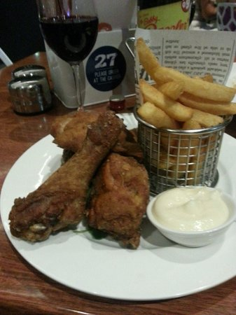 Capers on the Esplanade: Fried chicken... Which turned out to be deep fried!