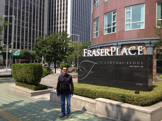 Fraser Place Central Seoul : The area is very beautiful & calm