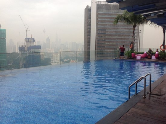 Rooftop Pool With View Of The New St Regis Picture Of Aloft Kuala Lumpur Sentral Kuala Lumpur