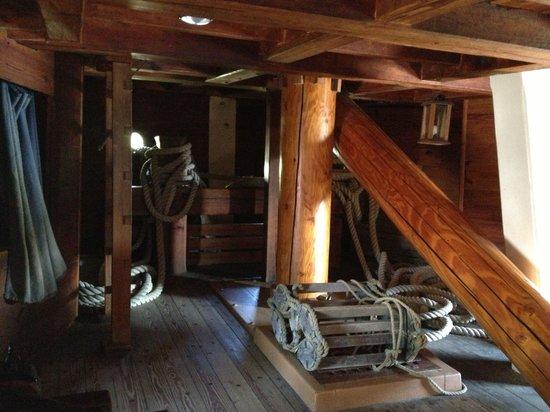 Jamestown Settlement: Inside of one of the ships!