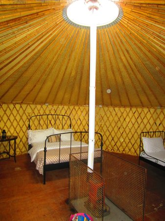 Boutique Camping : Inside the yurt